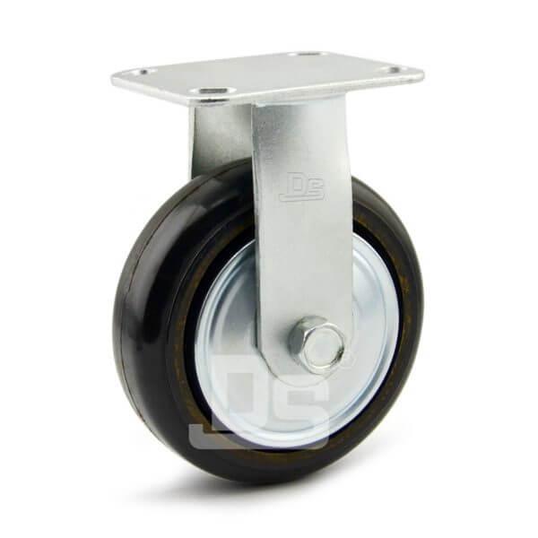 34-Series-Roller-Bearing-Top-Plate-Medium-Duty-rubber-cast-iron-Rigid-caster-wheels-1