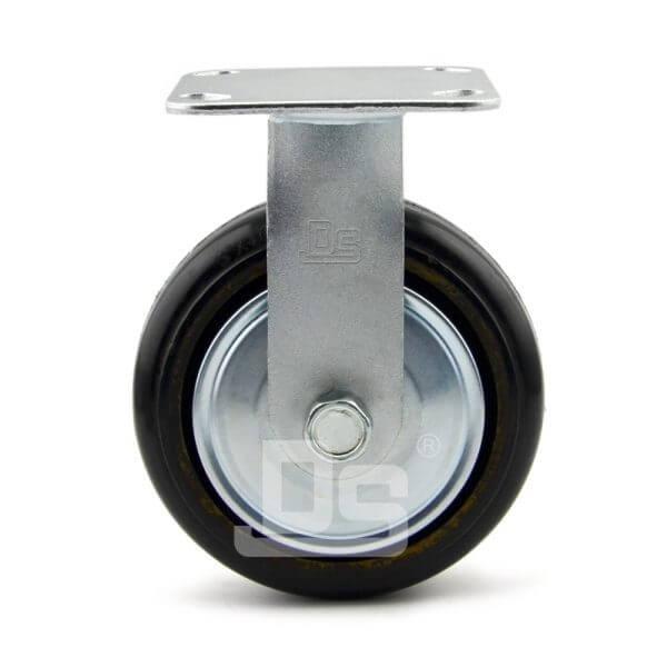 34-Series-Roller-Bearing-Top-Plate-Medium-Duty-rubber-cast-iron-Rigid-caster-wheels-2