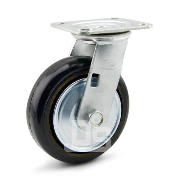 34-Series-Roller-Bearing-Top-Plate-Medium-Duty-rubber-cast-iron-Swivel-caster-wheels-1