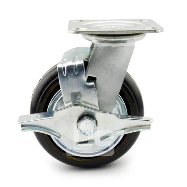 34-Series-Roller-Bearing-Top-Plate-Medium-Duty-rubber-cast-iron-Swivel-caster-wheels-2