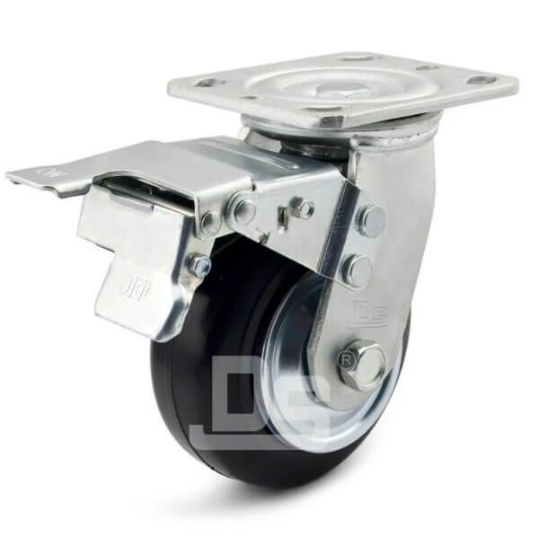 Heavy-Duty-Advanced-Rubber-Cast-Iron-Swivel-Caster-Wheels-with-Dual-Lock-Brake-1