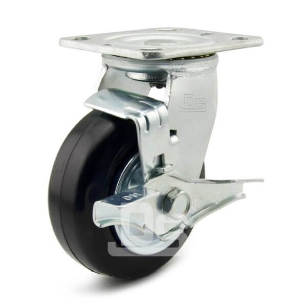 Heavy-Duty-Advanced-Rubber-Cast-Iron-Swivel-Caster-Wheels-with-Side-Lock-Brake-1