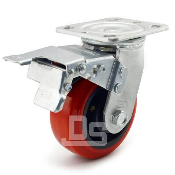 Heavy-Duty-PVC-PP-Swivel-Plastic-Wheels-with-Dual-Lock-Brake-1