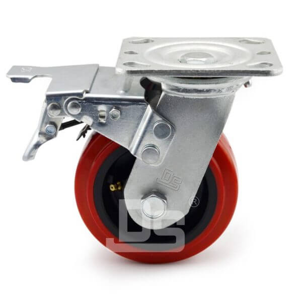 Heavy-Duty-PVC-PP-Swivel-Plastic-Wheels-with-Dual-Lock-Brake-2