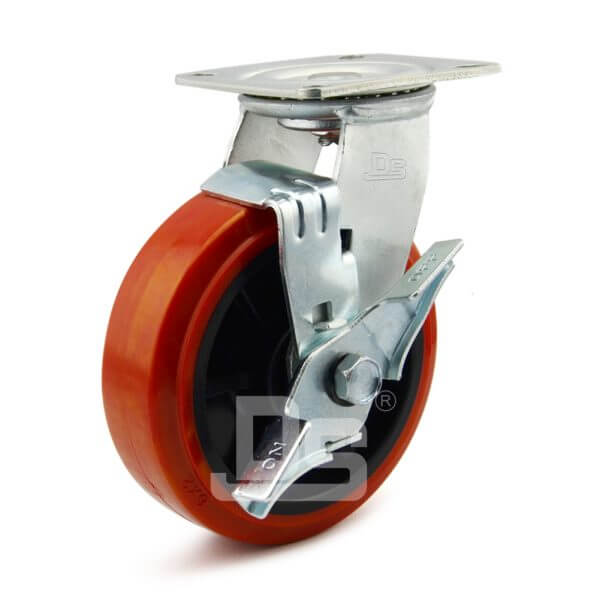Heavy-Duty-PVC-PP-Swivel-Plastic-Wheels-with-Side-Lock-Brake-1