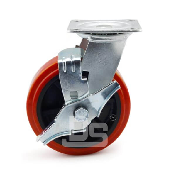 Heavy-Duty-PVC-PP-Swivel-Plastic-Wheels-with-Side-Lock-Brake-2
