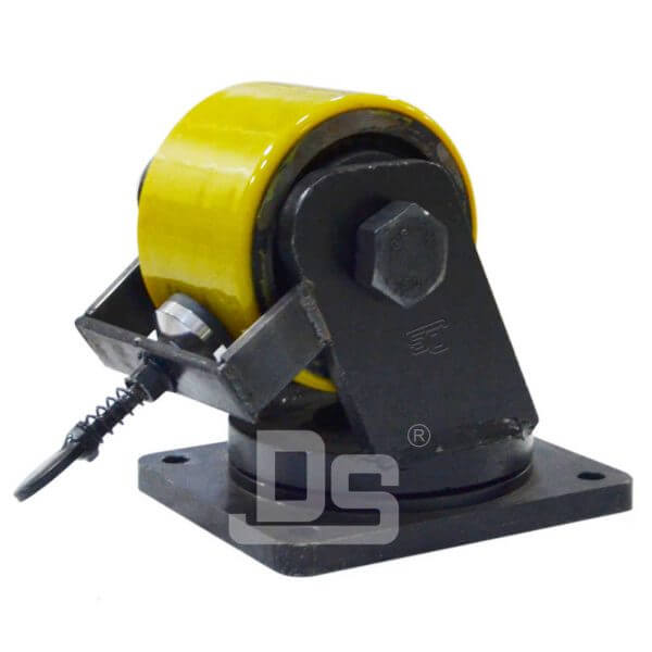 Heavy-Duty-Polyurethane-Cast-Iron-Core-Swivel-Caster-Wheels-with-Side-Lock-Brake-1