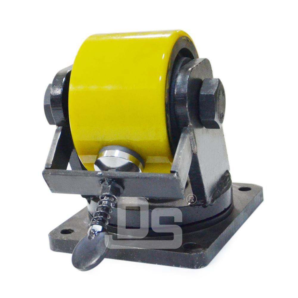 Heavy-Duty-Polyurethane-Cast-Iron-Core-Swivel-Caster-Wheels-with-Side-Lock-Brake-2
