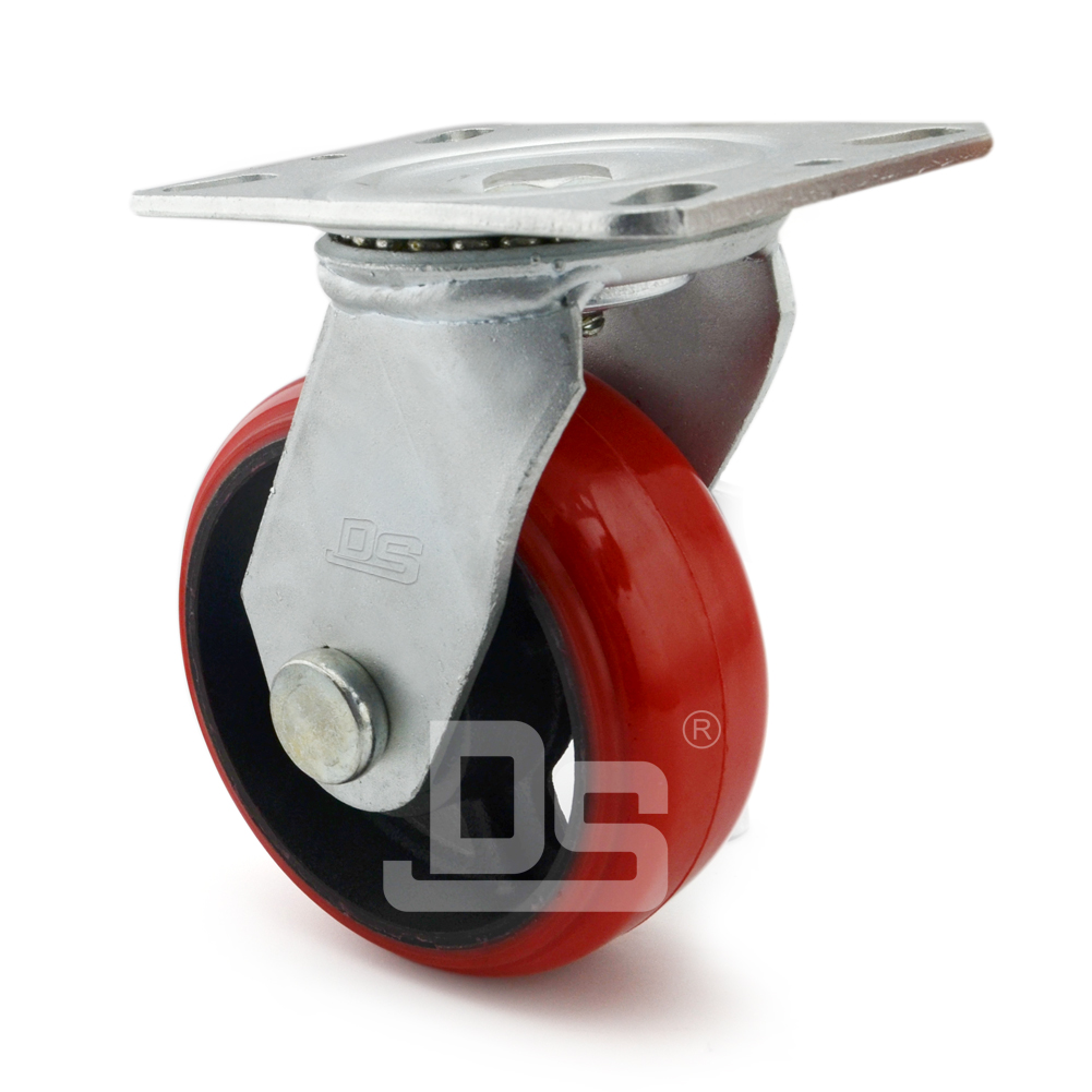 Heavy-Duty-Polyurethane-Cast-Iron-Swivel-Caster-wheels-2