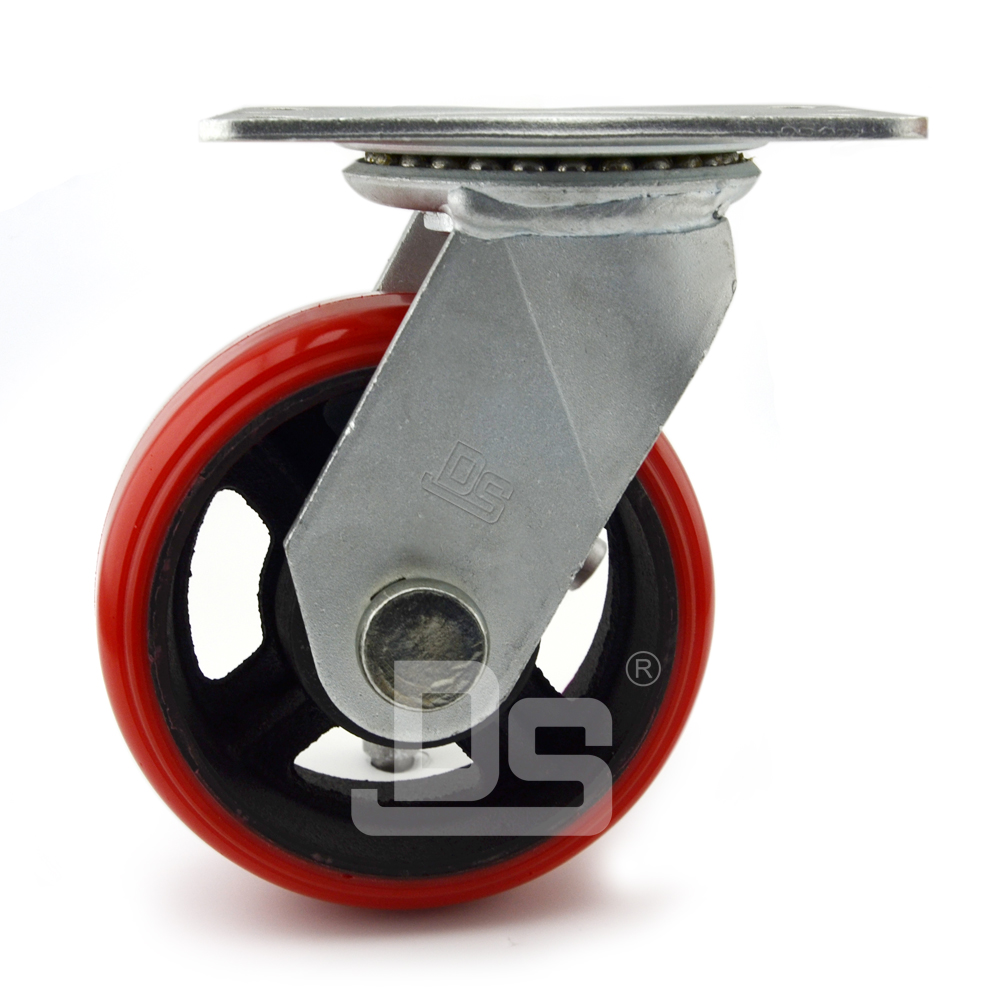 Heavy-Duty-Polyurethane-Cast-Iron-Swivel-Caster-wheels-3