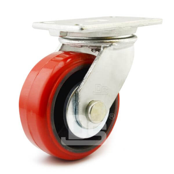 Heavy-Duty-Polyurethane-Cast-Iron-Swivel-Solid-Caster-Wheels-1