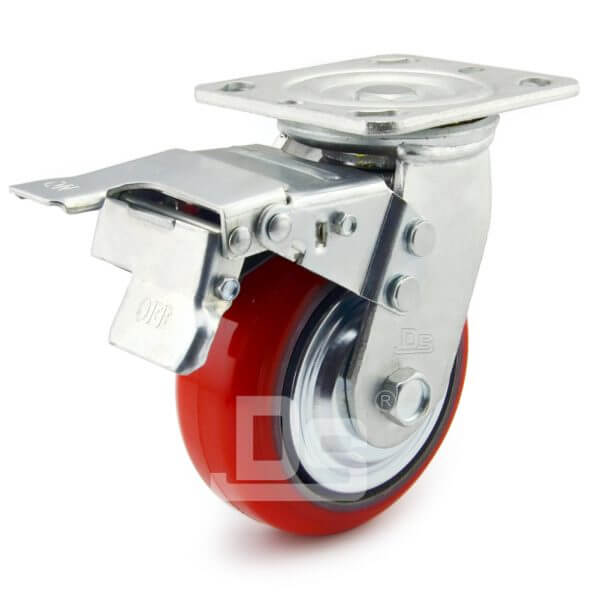 Heavy-Duty-Polyurethane-Swivel-Iron-Core-Caster-wheels-with-Dual-Lock-Brake-1