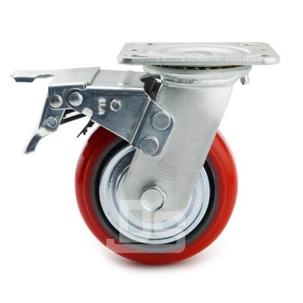 Heavy-Duty-Polyurethane-Swivel-Iron-Core-Caster-wheels-with-Dual-Lock-Brake-2