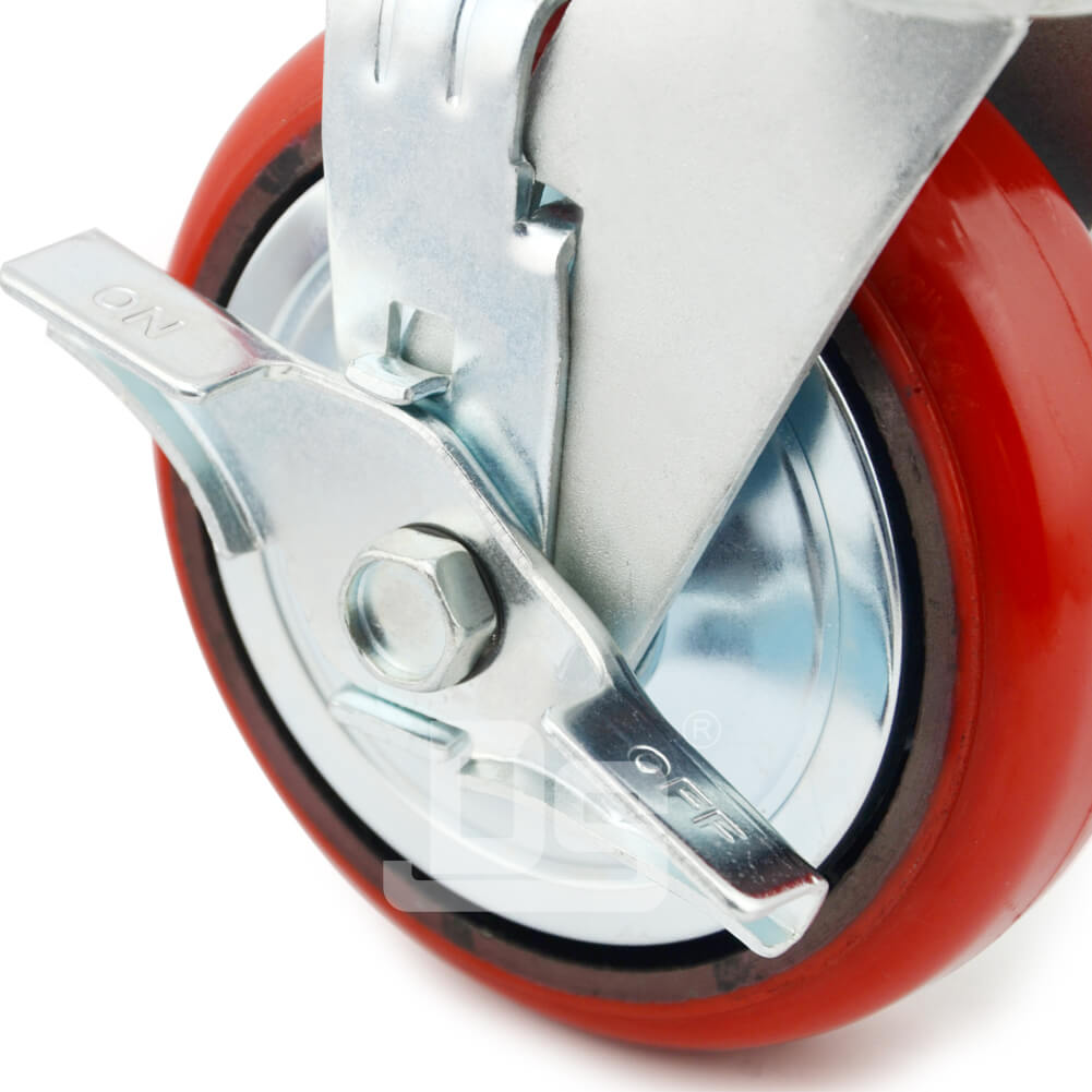 Heavy-Duty-Polyurethane-Swivel-Iron-Core-Caster-wheels-with-Side-Lock-Brake-5