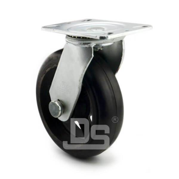 Heavy-Duty-Rubber-Cast-Iron-Swivel-Caster-wheels-2