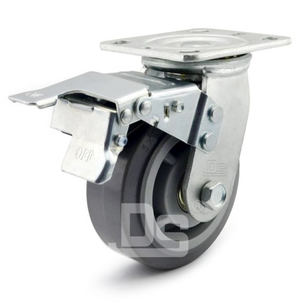 Heavy-Duty-TPE-PP-Swivel-Plastic-Wheels-with-Dual-Lock-Brake-1