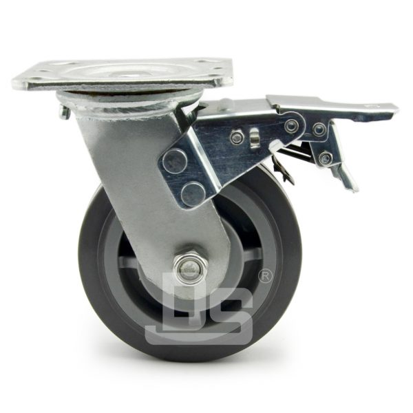 Heavy-Duty-TPE-PP-Swivel-Plastic-Wheels-with-Dual-Lock-Brake-2