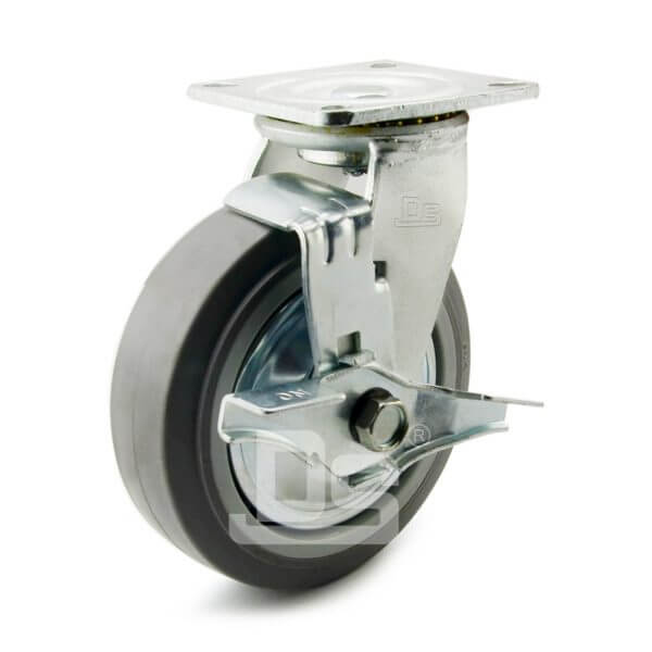 Heavy-Duty-TPE-PP-Swivel-Plastic-Wheels-with-Side-Lock-Brake-1