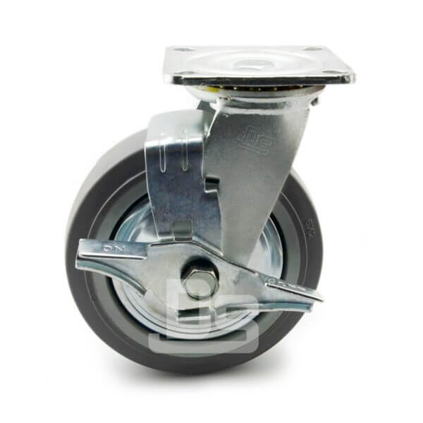 Heavy-Duty-TPE-PP-Swivel-Plastic-Wheels-with-Side-Lock-Brake-2