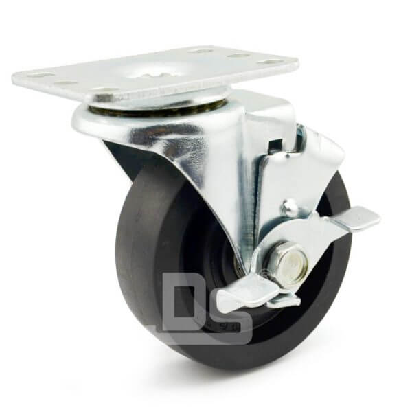Light-Duty-Nylon-and-Glass-Fiber-Swivel-Caster-Wheels-with-Side-Lock-Brake-230-1