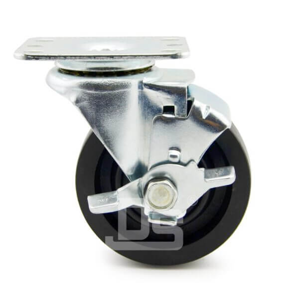 Light-Duty-Nylon-and-Glass-Fiber-Swivel-Caster-Wheels-with-Side-Lock-Brake-230-2