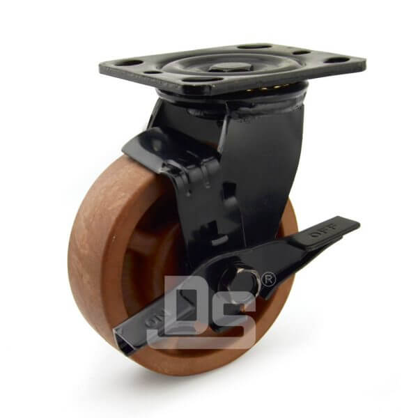 Light-Duty-Nylon-and-Glass-Fiber-Swivel-Caster-Wheels-with-Side-Lock-Brake-280-1