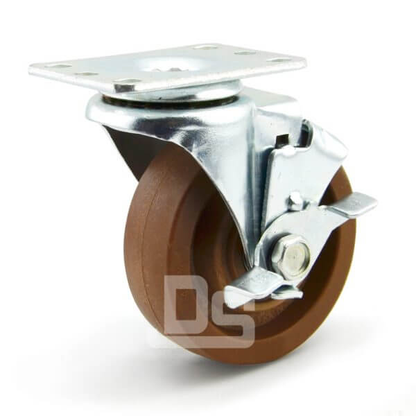 Light-Duty-Nylon-and-Glass-Fiber-Swivel-Caster-Wheels-with-Side-Lock-Brake-280-1
