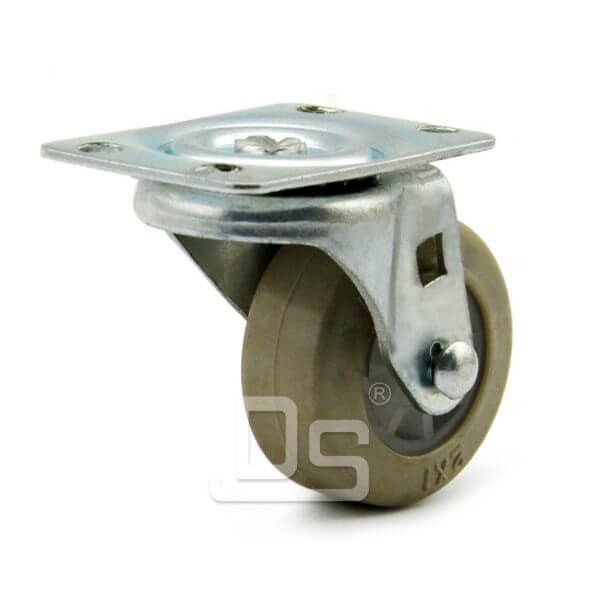 Light-Duty-Rubber-Tread-Plastic-Core-Swivel-Caster-Wheels-1