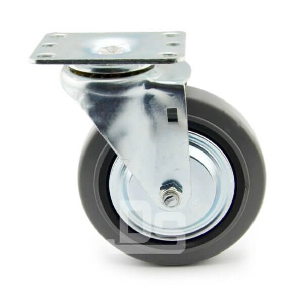 Light-Duty-Rubber-Tread-Plastic-Core-Swivel-Caster-Wheels-2