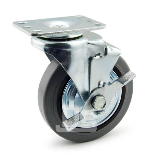 Light-Duty-Rubber-Tread-Plastic-Core-Swivel-Caster-Wheels-with-Side-Lock-Brake-1