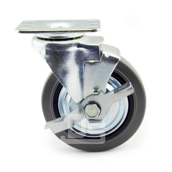 Light-Duty-Rubber-Tread-Plastic-Core-Swivel-Caster-Wheels-with-Side-Lock-Brake-2
