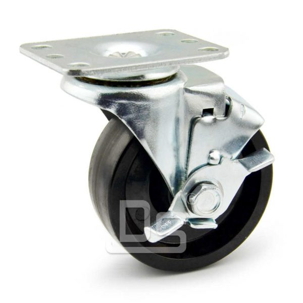 Light-Duty-Swivel-Phenolic-150-Caster-Wheels-with-Side-Lock-Brake