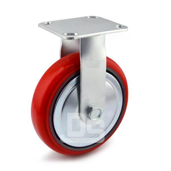 Medium-Duty-Polyurethane-Cast-Iron-Rigid-Caster-wheel-1