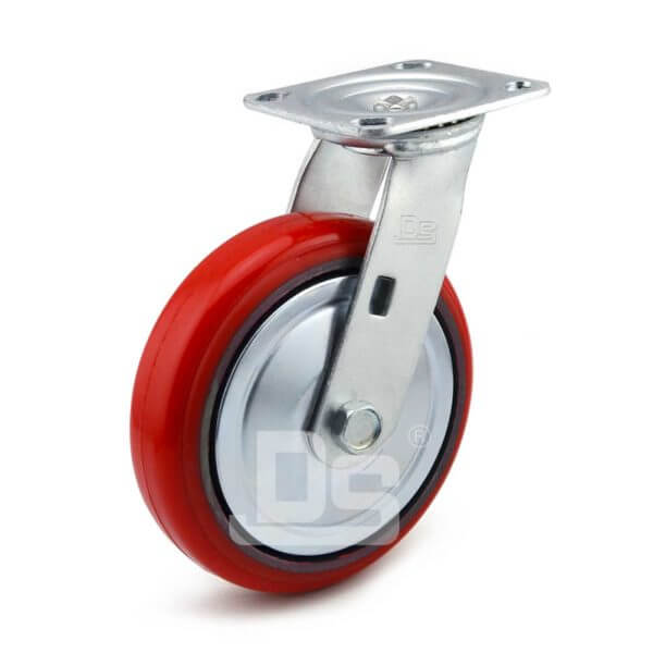 Medium-Duty-Polyurethane-Cast-Iron-Swivel-Caster-wheel-1