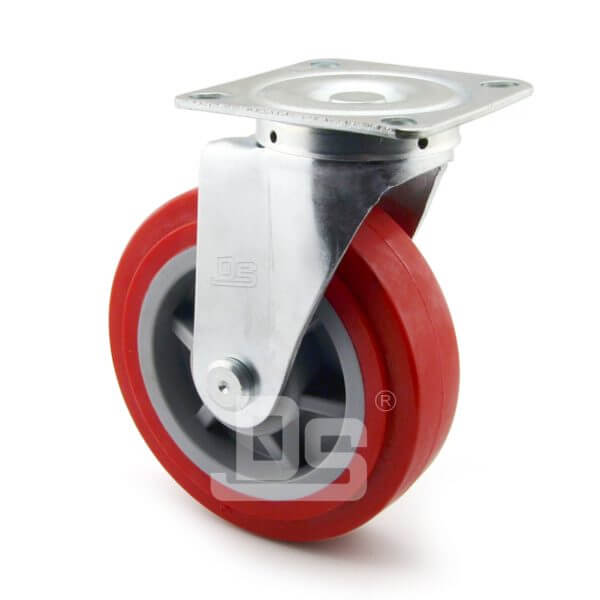 Medium-Duty-Polyurethane-Tread-Plastic-Core-Swivel-Caster-Wheels-3