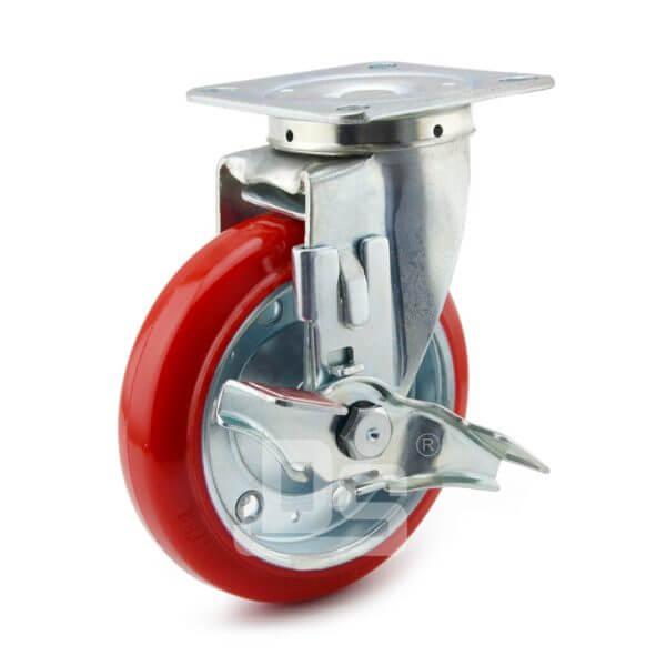 Medium-Duty-Polyurethane-Tread-Splint-Core-Swivel-Caster-Wheels-with-Side-Lock-Brake-1