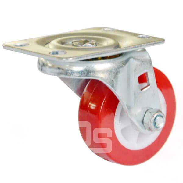 Polyurethane-Tread-Plastic-Core-Swivel-Casters-1