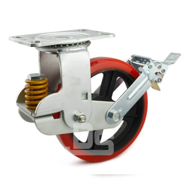 Spring-Shock-Absorbing-Swivel-Casters-With-Brake-1