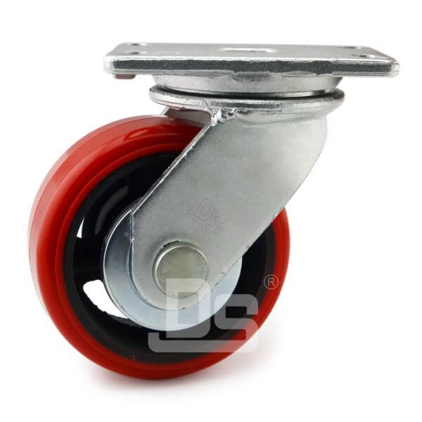 Super-Heavy-Duty-Polyurethane-Cast-Iron-Swivel-Caster-Wheels-2